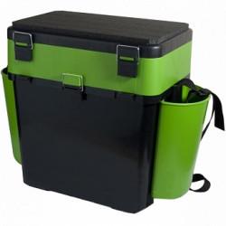 Ящик для зимней рыбалки Helios FishBox двухсекционный 10л зеленый (64060)